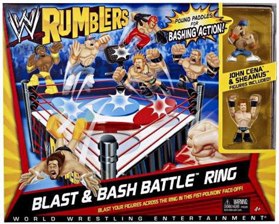 WWE Wrestling Rumblers Series 2 Blast & Bash Battle Ring Mini Figure Playset [2 Figures]