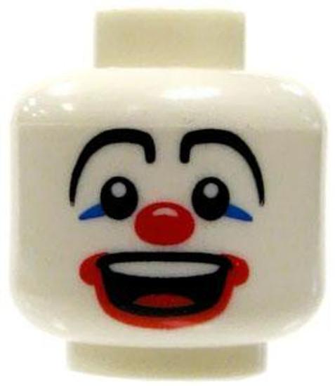 White Clown Face Laughing Minifigure Head [Loose]