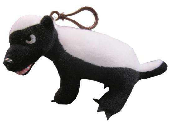 """Honey Badger Plush Clip On [""""R"""" Rated Version]"""