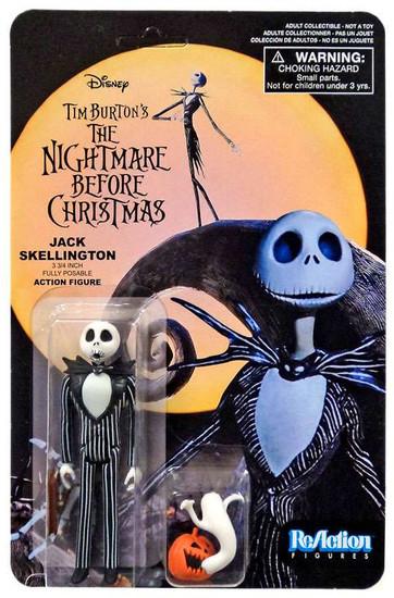 Funko Nightmare Before Christmas ReAction Jack Skellington Action Figure [Surprised, with Pumpkin & Ghost]