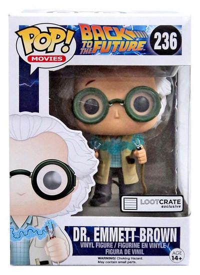 Funko Back to the Future POP! Movies Dr. Emmet Brown Exclusive Vinyl Figure #236 [Time Travel, Damaged Package]