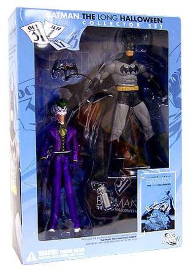 DC Batman & The Joker & Graphic Novel: The Long Halloween Action Figure Collection Pack