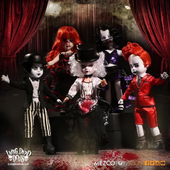 Living Dead Dolls Series 33 Moulin Morgue 10-Inch Set of 5 Dolls