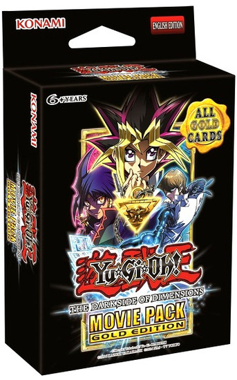 YuGiOh Dark Side of Dimensions Movie Pack GOLD Edition SPECIAL Edition [3 Booster Packs & 2 Cards!]