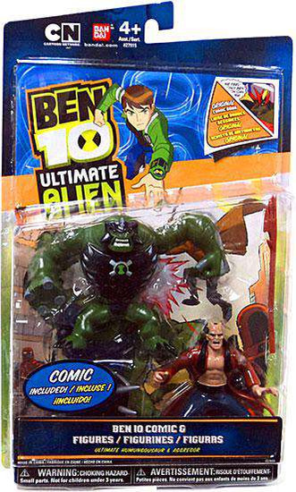 Ben 10 Ultimate Alien Comic Book Series Ultimate Humungousaur & Aggregor Exclusive Action Figure 2-Pack [Damaged Package]