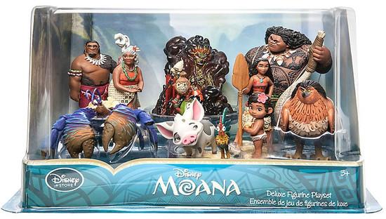 Disney Moana Moana Exclusive 10-Piece PVC Figure Play Set