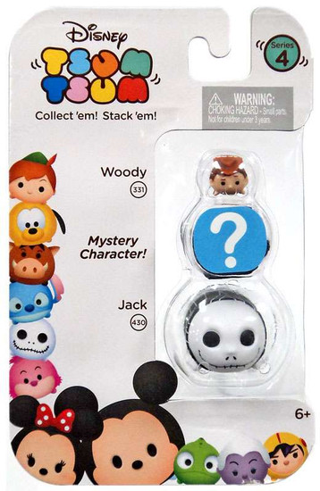 Disney Tsum Tsum Series 4 Woody & Jack 1-Inch Minifigure 3-Pack