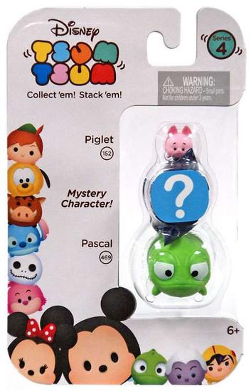 Disney Tsum Tsum Series 4 Piglet & Pascal 1-Inch Minifigure 3-Pack