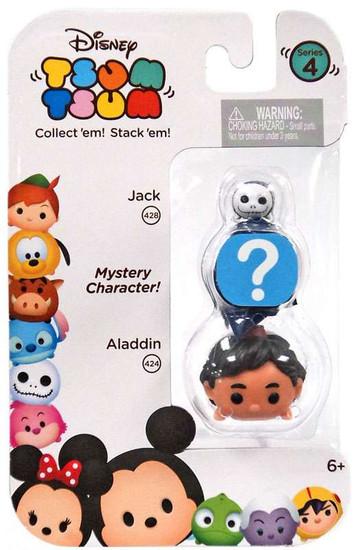 Disney Tsum Tsum Series 4 Jack & Aladdin 1-Inch Minifigure 3-Pack