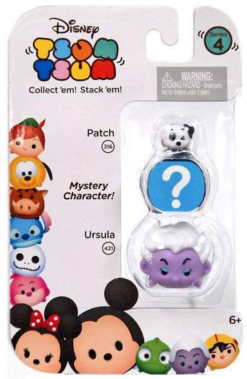 Disney Tsum Tsum Series 4 Patch & Ursula 1-Inch Minifigure 3-Pack