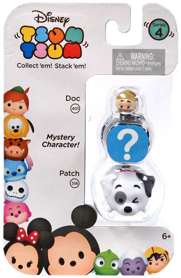 Disney Tsum Tsum Series 4 Doc & Patch 1-Inch Minifigure 3-Pack