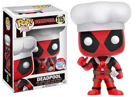 Funko POP! Marvel Deadpool Exclusive Vinyl Bobble Head #115 [Chef Hat]