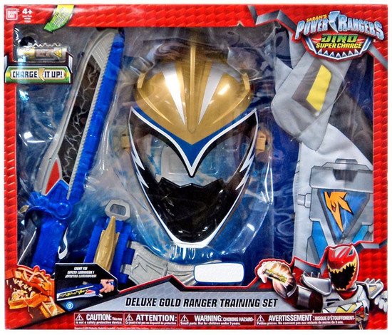 Power Rangers Dino Super Charge Deluxe Gold Ranger Training Set Roleplay Toy