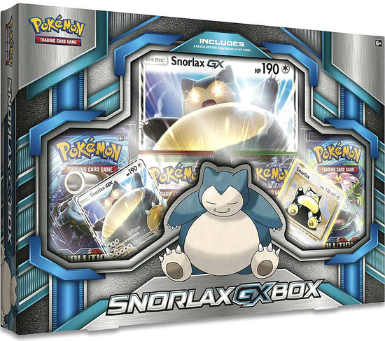 Pokemon Trading Card Game XY Snorlax GX Box [4 Booster Packs, 2 Promo Cards & Oversize Card]