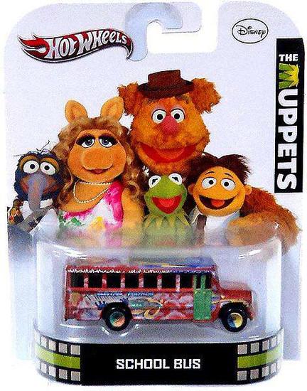 Hot Wheels The Muppets HW Retro Entertainment School Bus Die-Cast Car