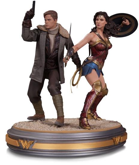 DC Wonder Woman & Steve Trevor 12-Inch Statue