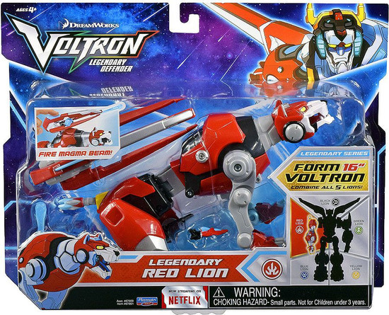 Voltron Legendary Defender Red Lion Combinable Action Figure [Fire Magma Beam]