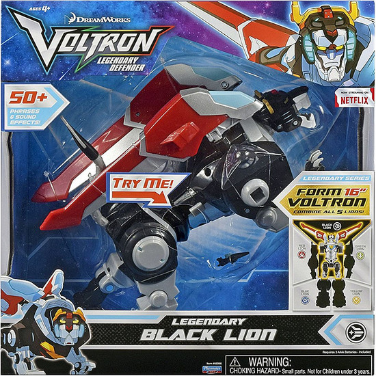 Voltron Legendary Defender Black Lion Deluxe Combinable Action Figure