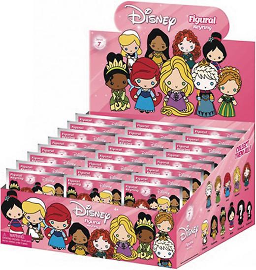 3D Figural Keyring Disney Series 7 Mystery Box [24 Packs]