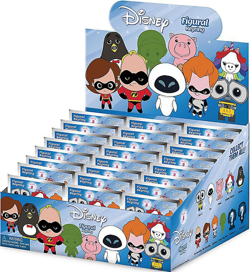3D Figural Keyring Disney Series 8 Mystery Box [24 Packs]