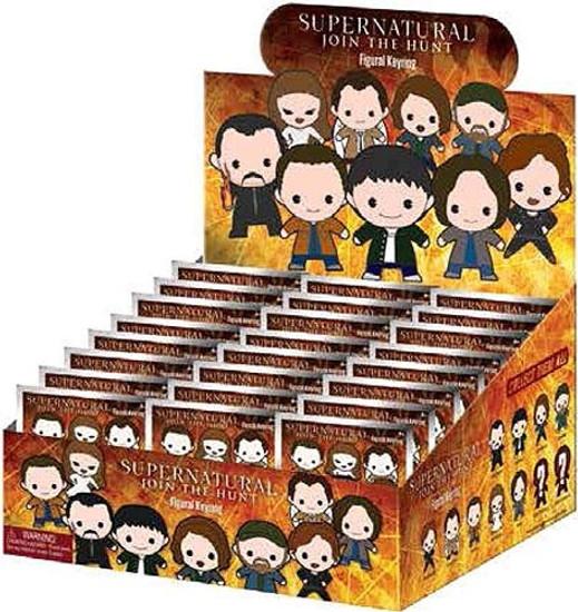 3D Figural Keyring Supernatural Mystery Box [24 Packs]