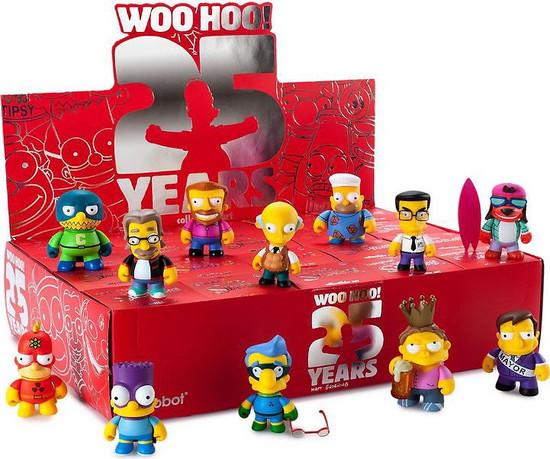 "3/"" VINYL MINI Limited Edition 3 en 40 Fat Hat Homer KIDROBOT SIMPSONS 25th anniversaire"
