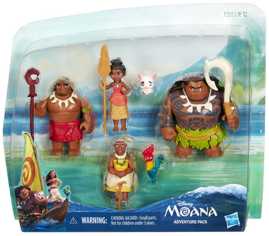 Disney Moana Moana Adventure Pack Figure 6-Pack Set