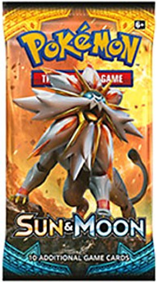 Pokemon Trading Card Game Sun & Moon Base Set Booster Pack [10 Cards]
