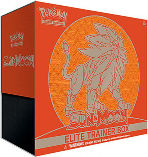 Pokemon Trading Card Game Sun & Moon Solgaleo Elite Trainer Box [8 Booster Packs, 65 Card Sleeves, 45 Energy Cards & More]