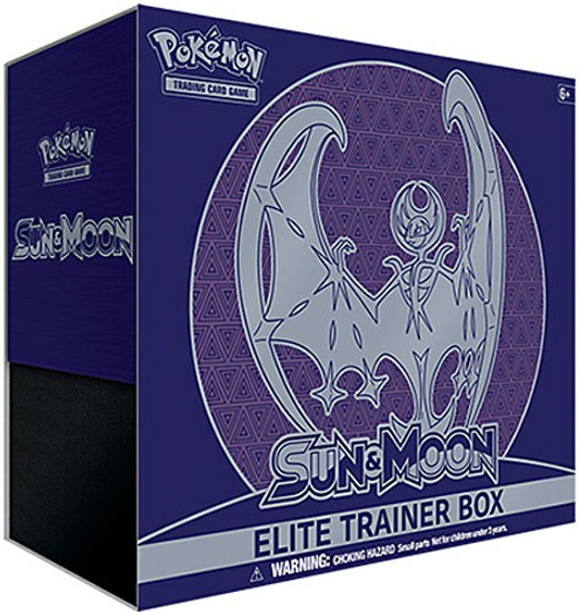 Pokemon Trading Card Game Sun & Moon Lunala Elite Trainer Box [8 Booster Packs, 65 Card Sleeves, 45 Energy Cards & More]