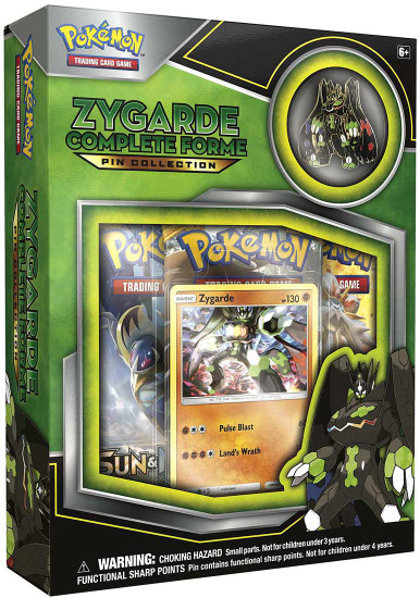 Pokemon Trading Card Game Sun & Moon Zygarde Complete Forme Pin Collection [3 Booster Packs, Promo Card & Pin]