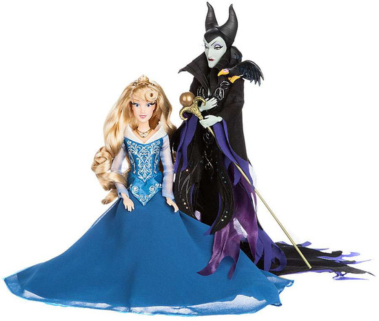 Disney Princess Sleeping Beauty Disney Fairytale Designer Collection Aurora & Maleficent Exclusive 11.5-Inch Doll Set