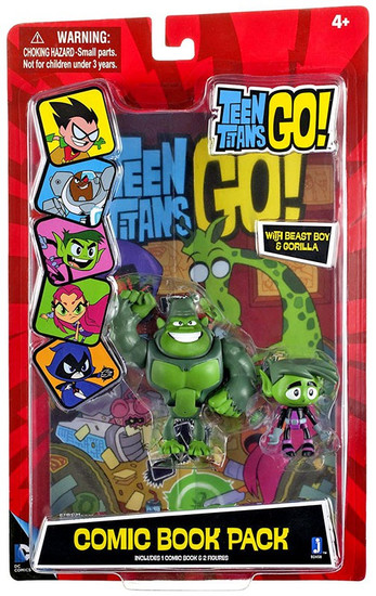 Teen Titans Go! Comic Book Pack Beast Boy & Gorilla Action Figure 2-Pack