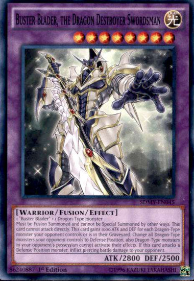 YuGiOh Yugi Muto Structure Deck Common Buster Blader, the Dragon Destroyer Swordsman SDMY-EN045