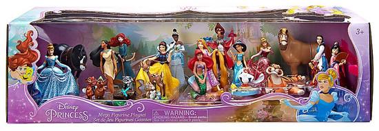 Disney Princess Exclusive 20-Piece PVC Mega Figurine Playset [2016]