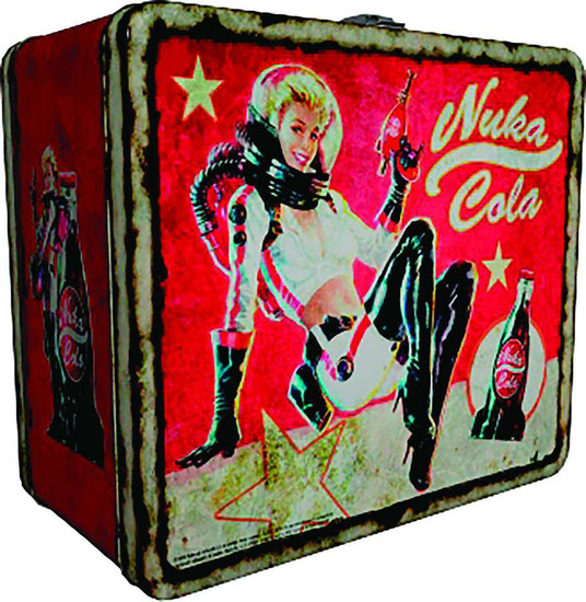 Fallout Nuka Cola 8-Inch x 6-1/2-Inch x 4-Inch Tin Tote Lunch Box