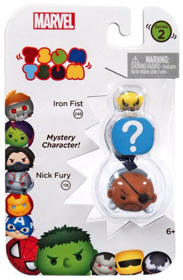 Marvel Tsum Tsum Series 2 Iron Fist & Nick Fury 1-Inch Minifigure 3-Pack #246 & 118