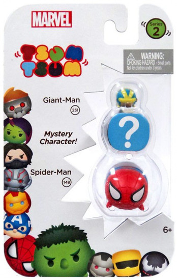 Marvel Tsum Tsum Series 2 Giant-Man & Spider-Man 1-Inch Minifigure 3-Pack #231 & 148