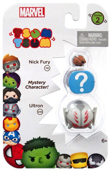 Marvel Tsum Tsum Series 2 Nick Fury & Ultron 1-Inch Minifigure 3-Pack #116 & 245