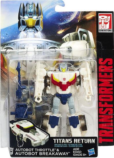 Transformers Generations Titans Return Autobot Throttle & Autobot Breakaway Deluxe Action Figure