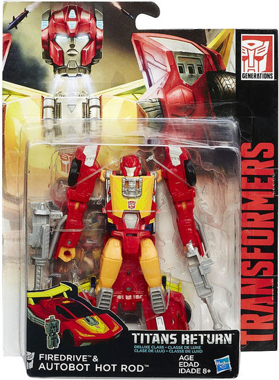 Transformers Generations Titans Return Firedrive & Autobot Hot Rod Deluxe Action Figure