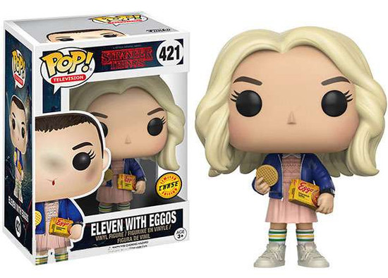 Funko Stranger Things POP! TV Eleven with Eggos Vinyl Figure #421 [Long Blonde Hair, Chase Version]