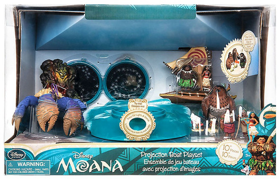 Disney Moana Projection Boat Exclusive Playset
