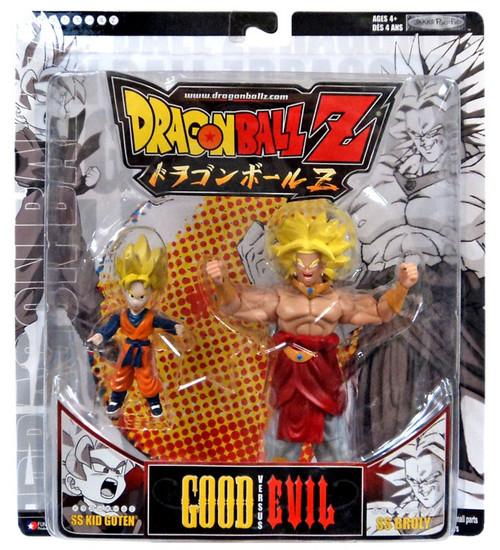 Dragon Ball Super Saiyan SS Kid Goten vs. SS Broly Action Figure 2-Pack