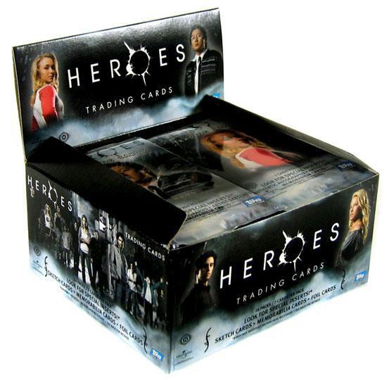 Heroes Topps Series 1 Trading Card HOBBY Box [24 Packs]