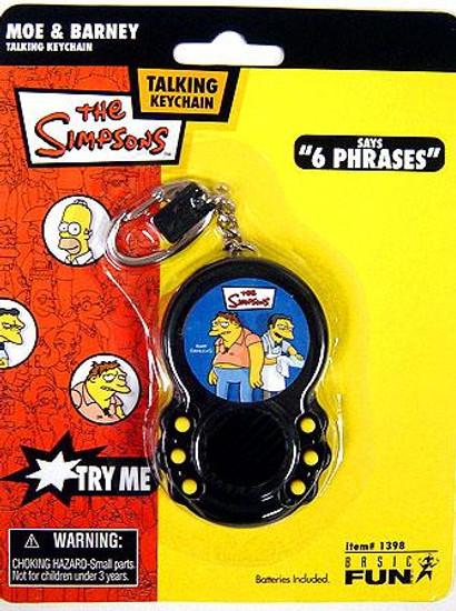 The Simpsons Moe & Barney Talking Keychain