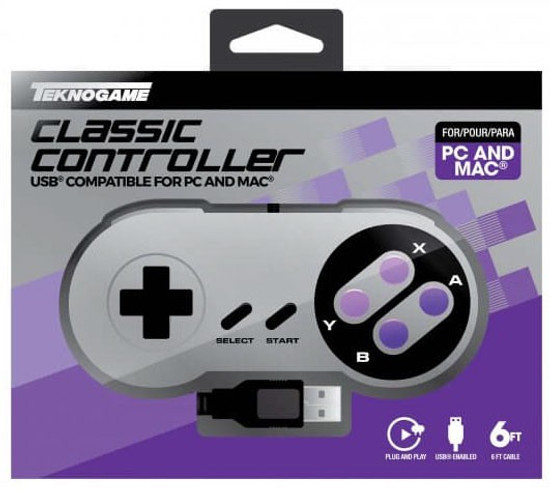 Nintendo Wired USB PC Controller Video Game Controller [Purple Classic]