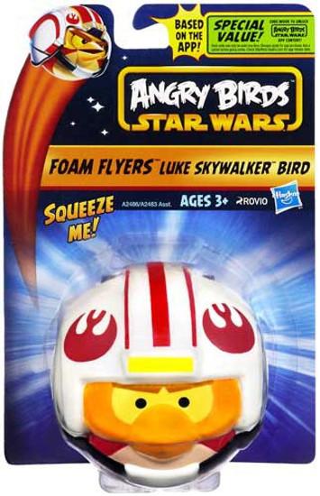 Star Wars Angry Birds Foam Flyers Luke Skywalker Bird Figure