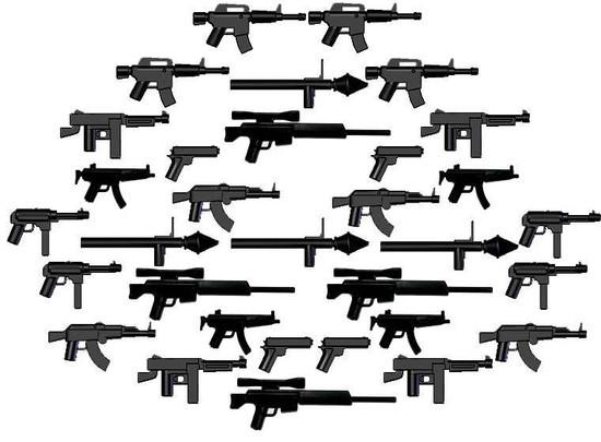 "BrickArms 32 Piece ""Juggernaut"" Weapons Pack"