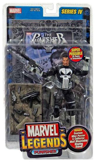 Marvel Legends Series 4 Punisher Action Figure [Foil Print Variant]